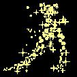 PNG - efeito - Bolas e estrelas douradas